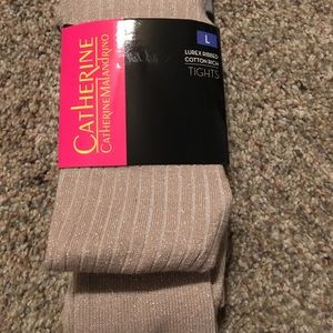 Gold sparkle tights sz L perfect for holidays! NEW